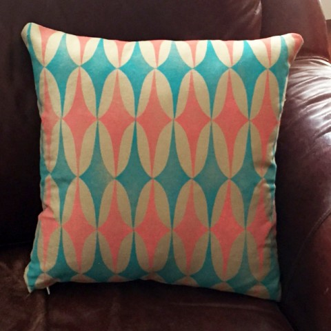 Block Printed pillow by Becky Tidswell