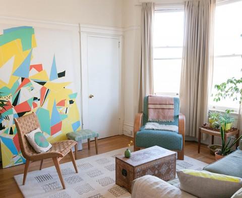 JenHewett's LivingRoom - Design*Sponge Home Tour