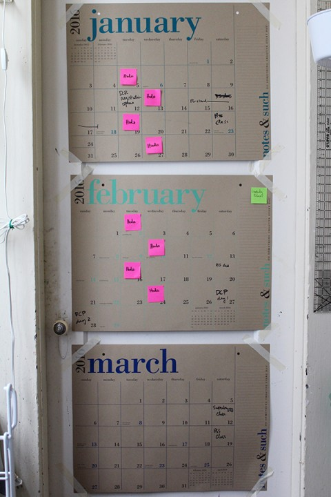 Three-month calendar to schedule projects by Jen Hewett