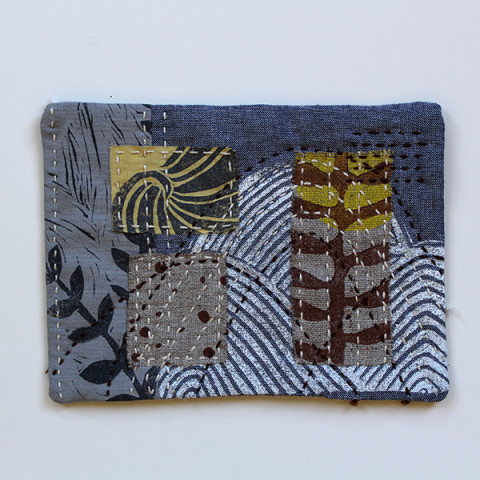 Textile collage by Jen Hewett
