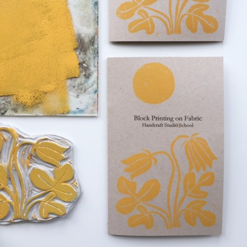 Class booklet from Jen Hewett's Block Printing on Fabric class