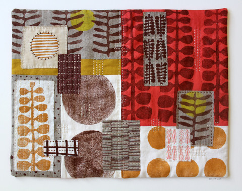Untitled No. 1 textile collage by Jen Hewett