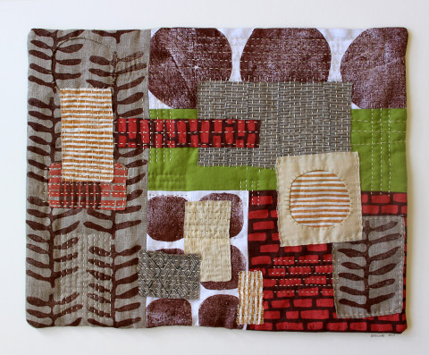 Untitled No. 4 textile collage by Jen Hewett