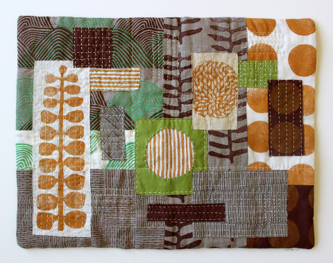 Untitled No. 6 textile collage by Jen Hewett