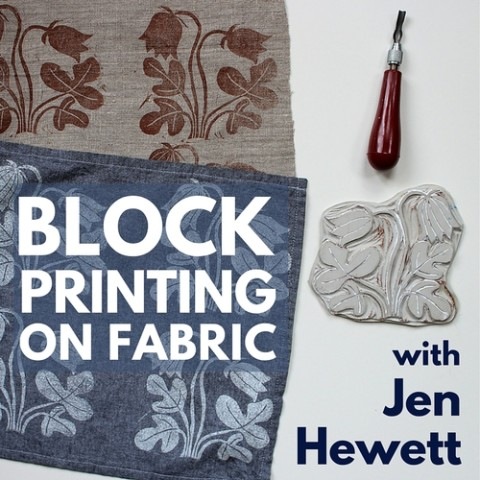 Block Printing on Fabric with Jen Hewett at Drop Forge and Tool in Hudson, NY
