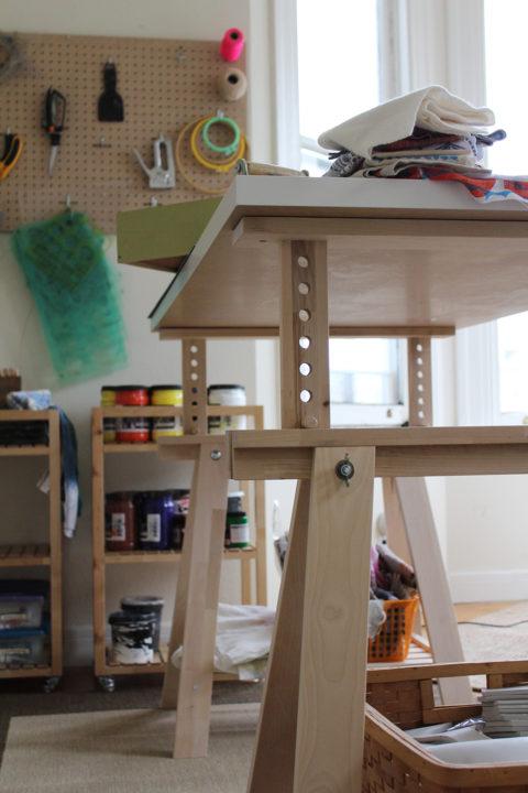 Jen Hewett's studio