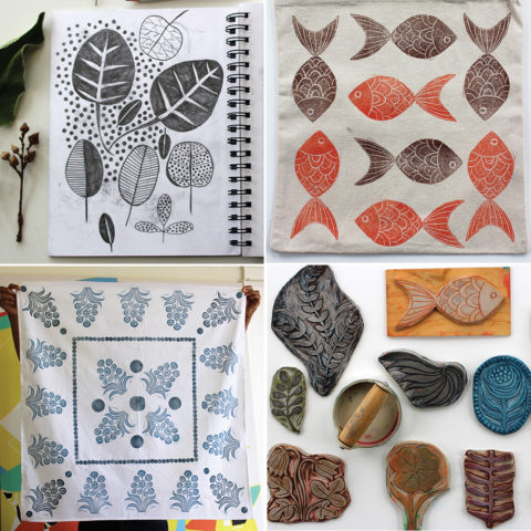 A three-day block printing retreat with Jen Hewett at the Mini-Makerie