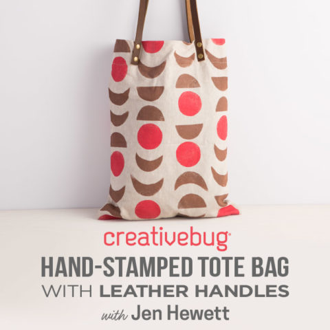 Hand-Stamped Tote Bag with Jen Hewett and Creativebug