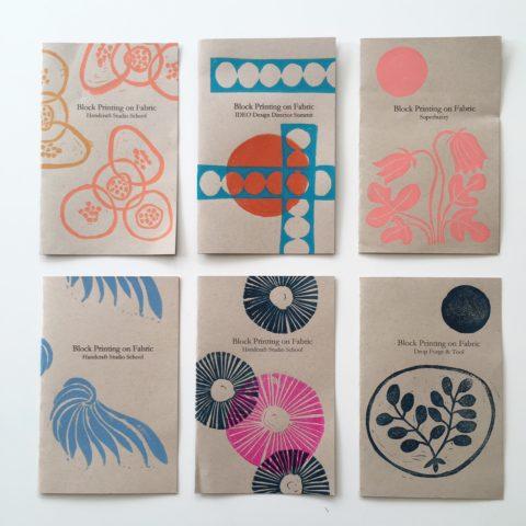 Jen Hewett block printing class booklets