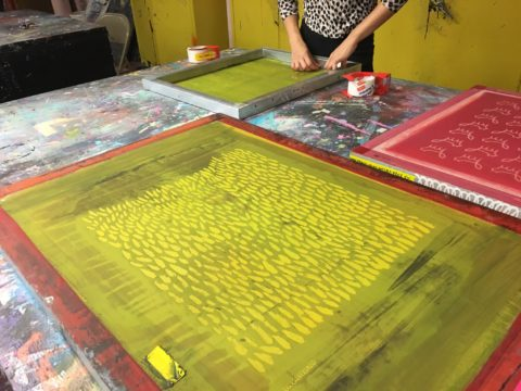 screenprinting | Jen Hewett, printmaker, surface designer